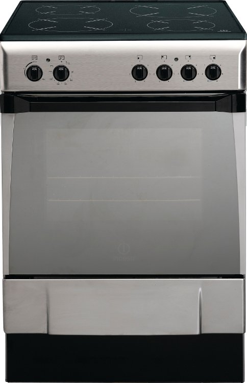 Charming Single Oven Electric Cooker Part - 8: Indesit IS60C1X Ceramic Electric Cooker With Single Oven