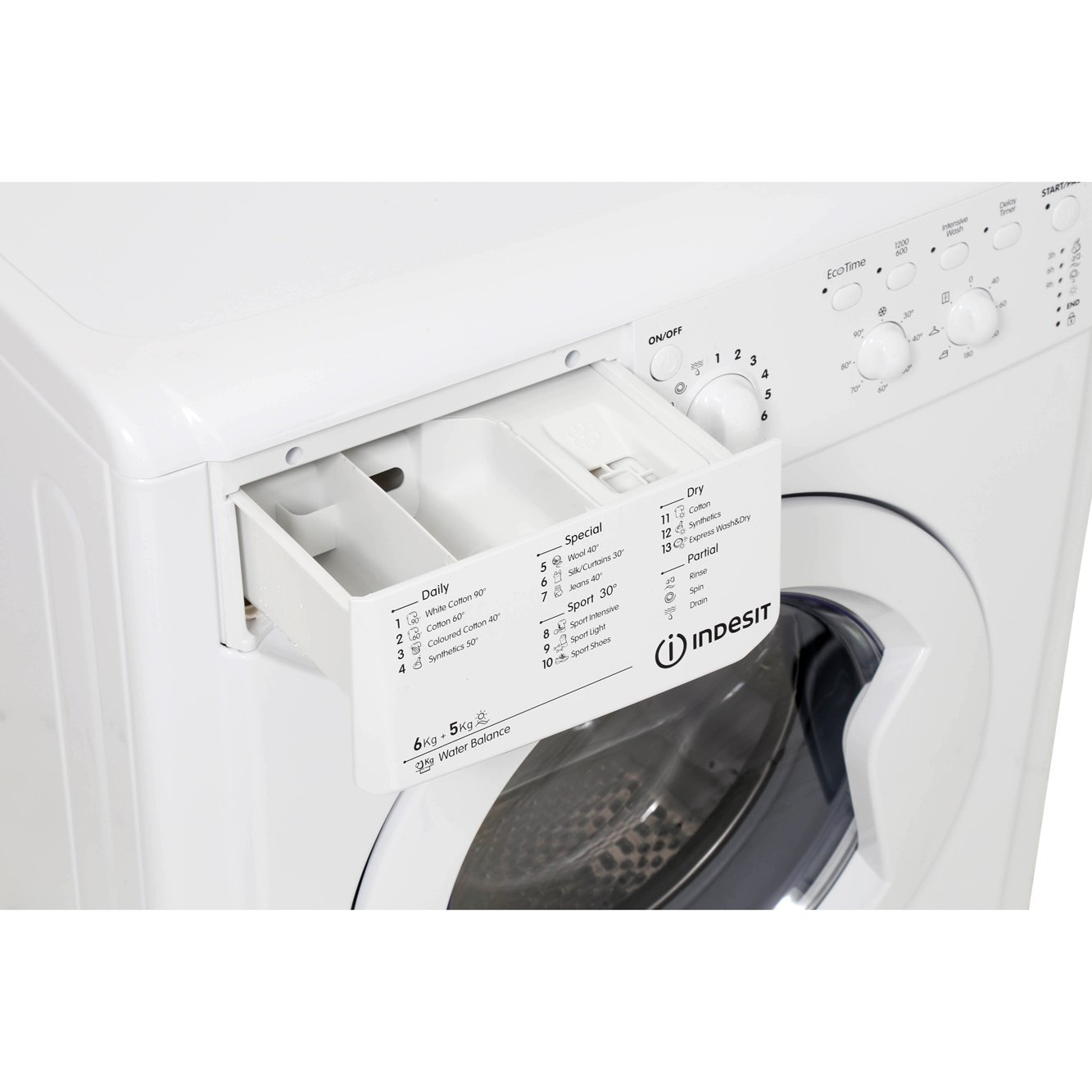 buy indesit start iwdc6125 washer dryer iwdc6125 white marks electrical. Black Bedroom Furniture Sets. Home Design Ideas