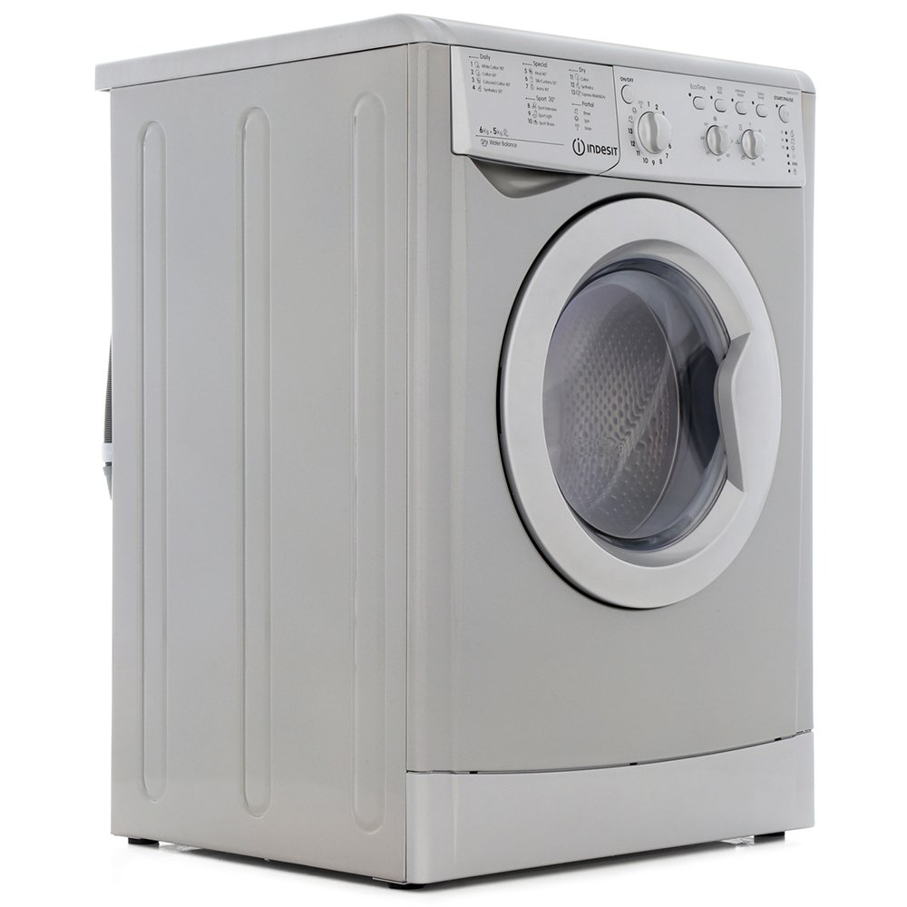 buy indesit start iwdc6125s washer dryer iwdc6125s silver marks electrical. Black Bedroom Furniture Sets. Home Design Ideas