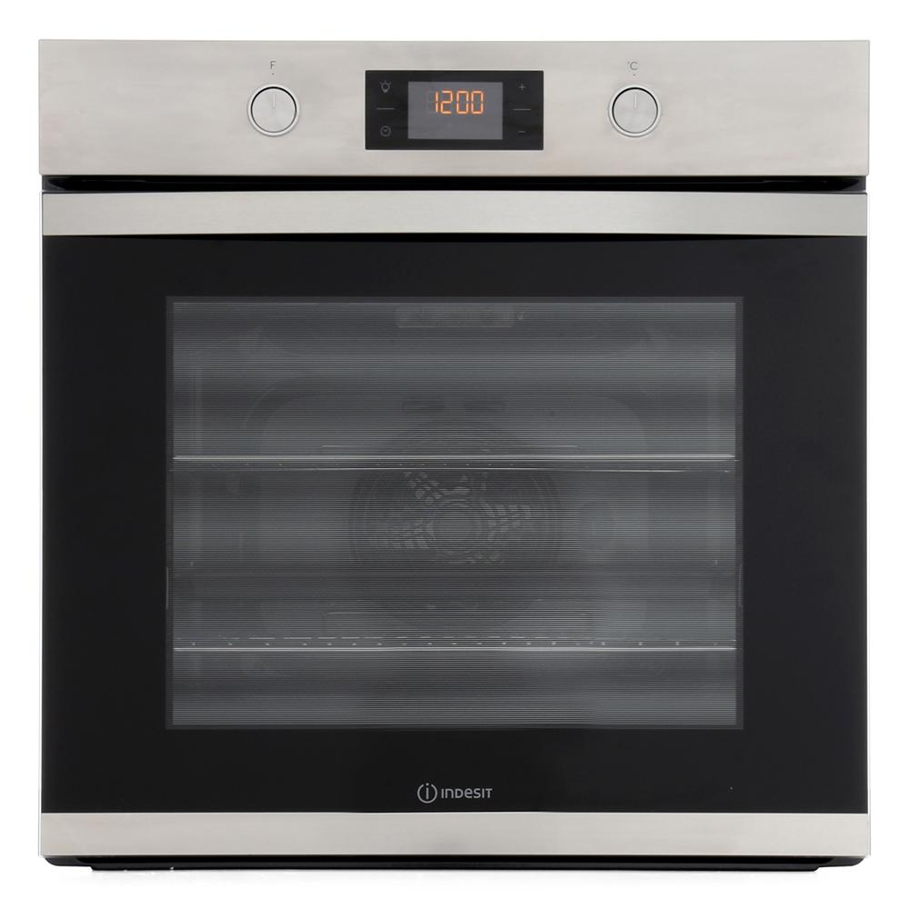 Indesit KFW3841JHIXUK Single Built In Electric Oven