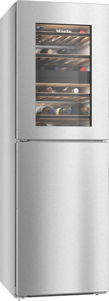 Miele KWNS28462E CleanSteel Freezer Frost Free Fridge Freezer