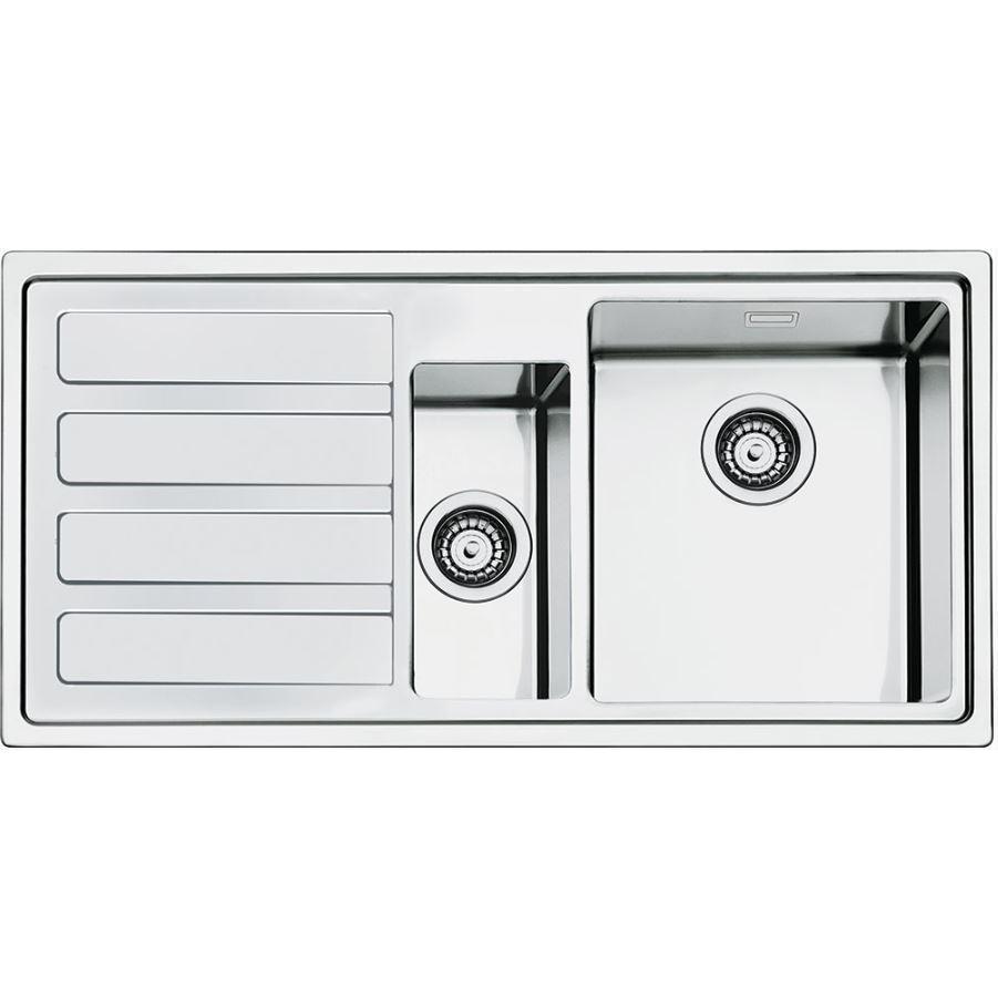 Smeg Mira LD102S-2 Left Hand Drainer Stainless Steel UltraProfile Inset Sink
