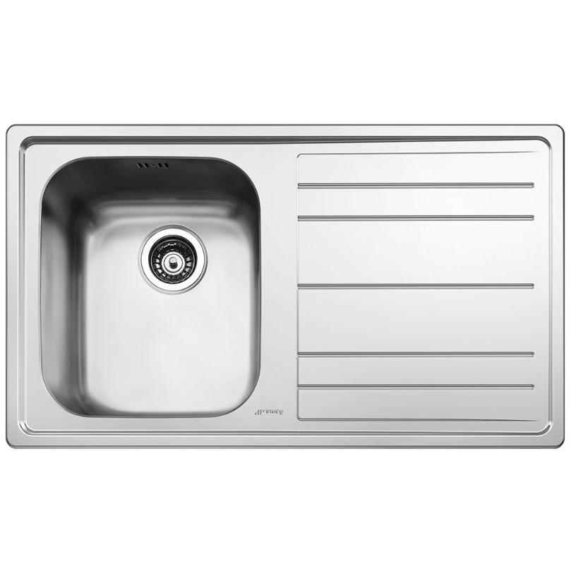 Smeg Rigae LEH861D Right Hand Drainer Stainless Steel Inset Sink