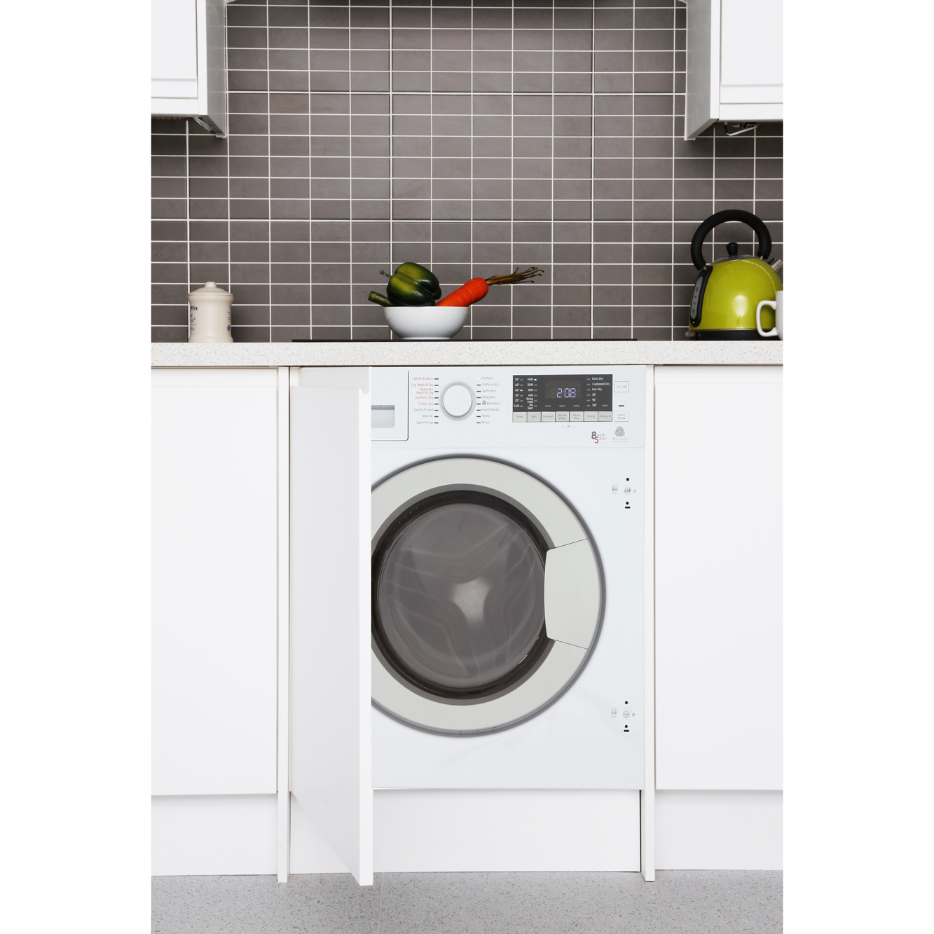 Good Built In Washer Part - 9: Blomberg LRI285410W Integrated Washer Dryer
