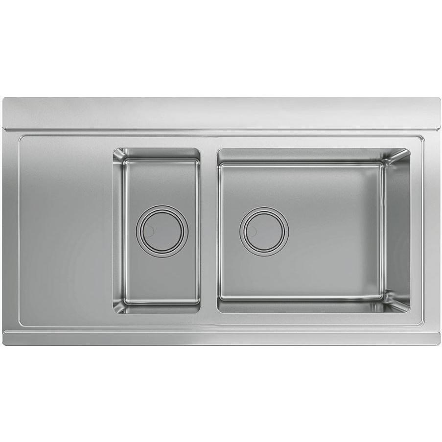 Smeg Linea LRX9015S Left Hand Drainer Stainless Steel Inset Sink