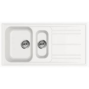 Smeg Rigae LZ102B Reversible White Composit Granite Inset Sink