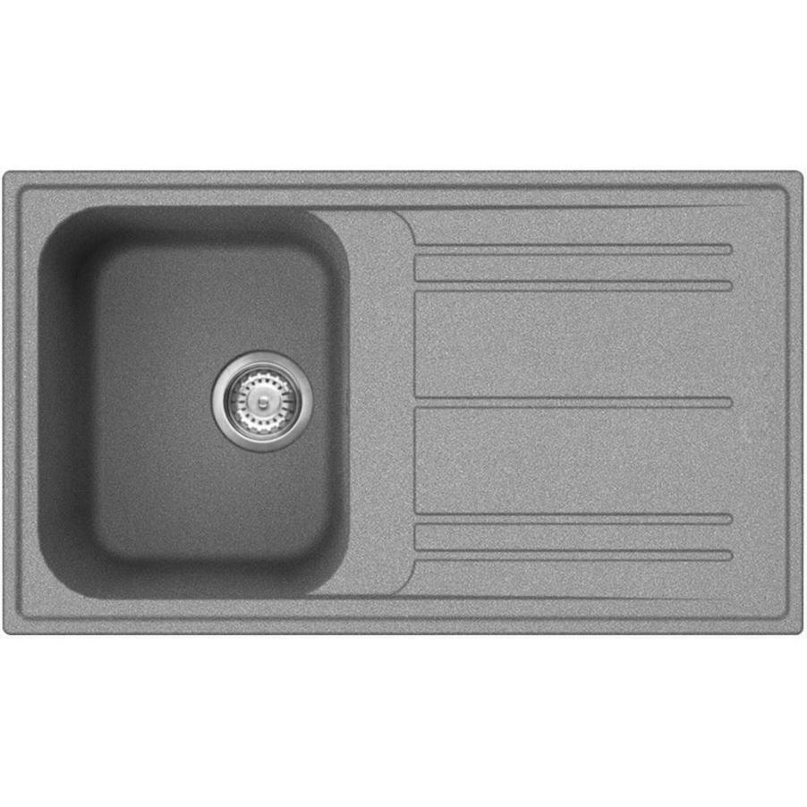 Smeg Rigae LZ861CT Reversible Grey Composite Granite Inset Sink