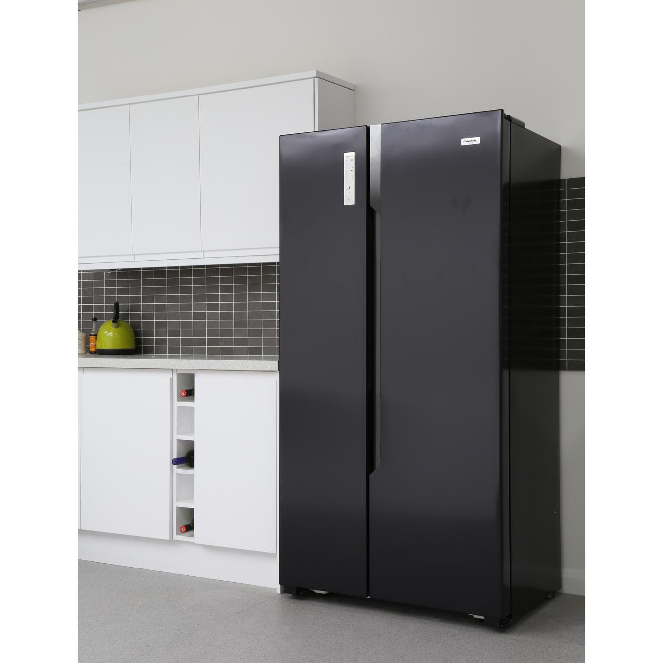 Which American Fridge Freezer Part - 50: Fridgemaster MS91518FFB American Fridge Freezer