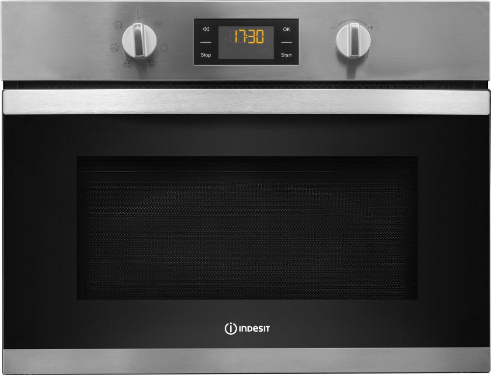 Indesit MWI3443IX Built In Microwave with Grill