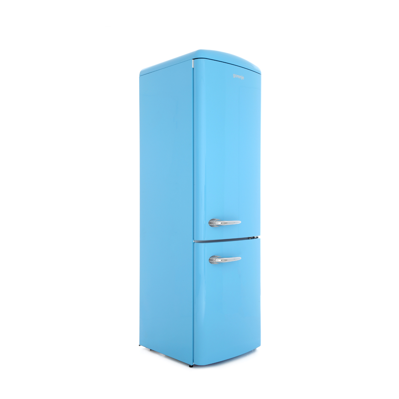 buy gorenje onrk193bl retro frost free fridge freezer baby blue marks electrical. Black Bedroom Furniture Sets. Home Design Ideas
