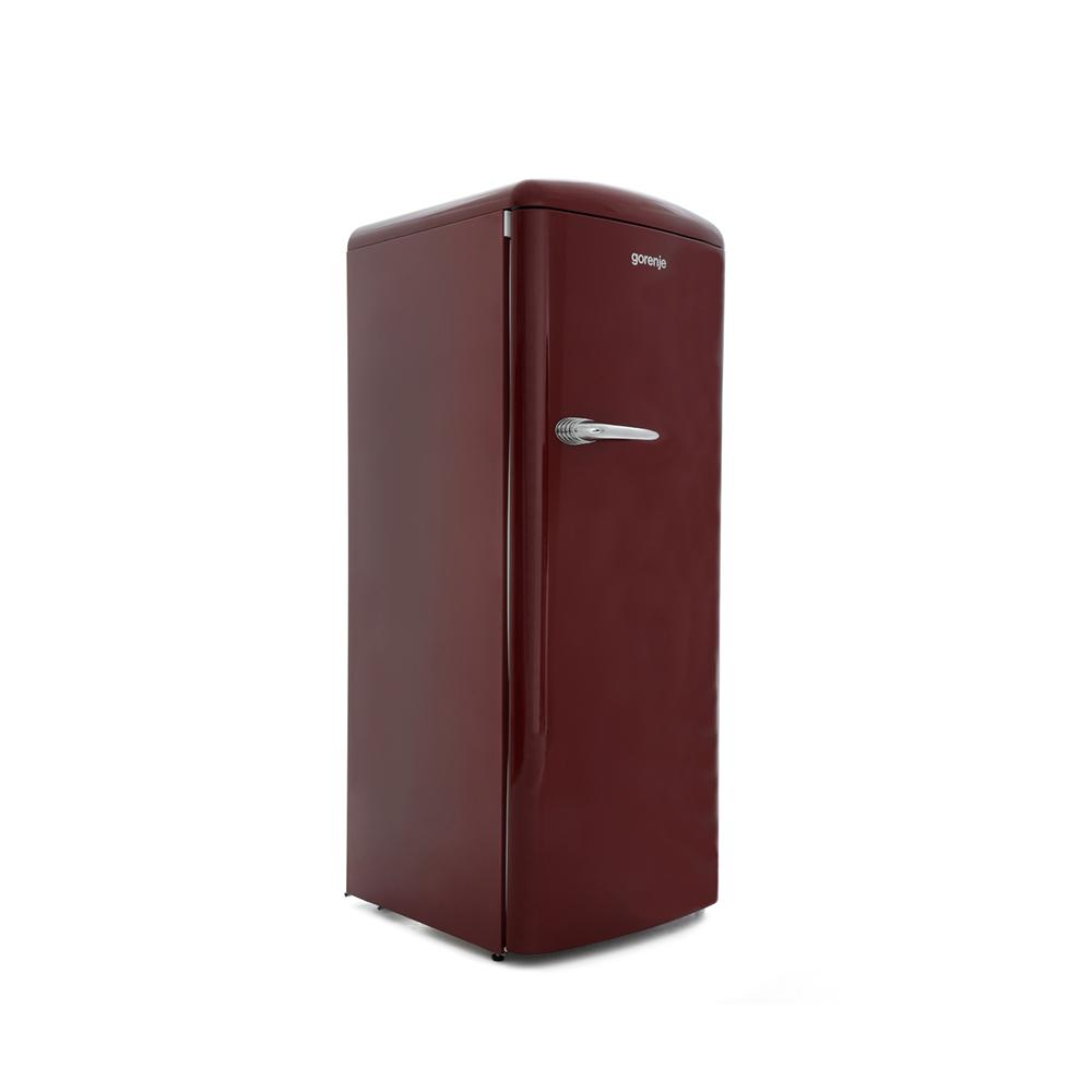 buy gorenje orb153r retro tall fridge with ice box burgundy marks electrical. Black Bedroom Furniture Sets. Home Design Ideas