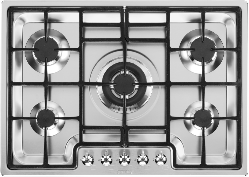 Smeg Classic PGF75-4 5 Burner Gas Hob
