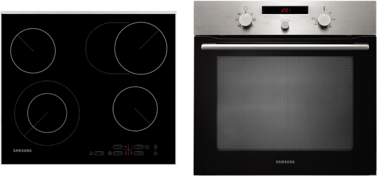 Built In Electric Cooker Part - 41: Samsung Ceramic Hob Pack BF3ON3T11P/C61R2AEE Single Built In Electric Oven  And