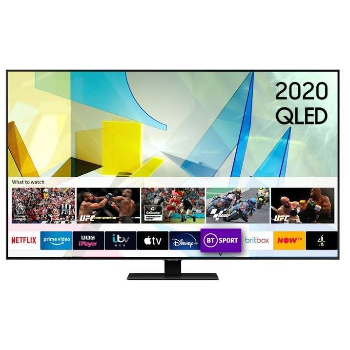 """Samsung QE75Q80TATXXU 75"""" QLED 4K Smart Television"""