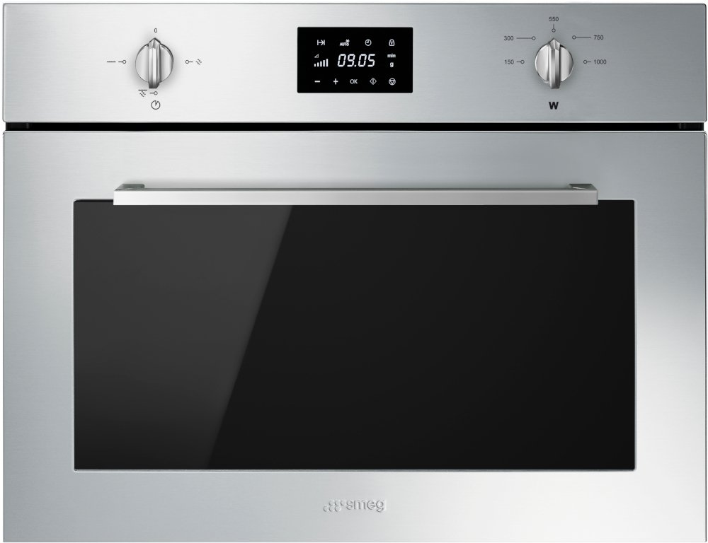 Smeg Cucina SF4400MX Built In Microwave with Grill