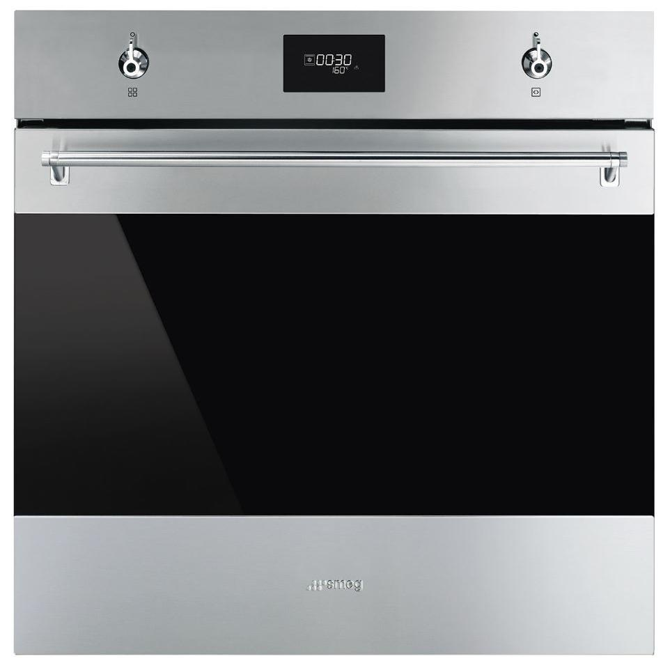Smeg Classis SFP6301TVX Stainless Steel and Eclipse Glass Single Built In Electric Oven