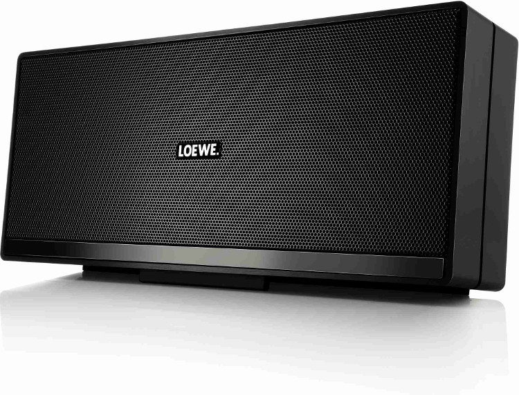 buy loewe speaker2go black portable bluetooth speaker speaker2goblack aluminium black. Black Bedroom Furniture Sets. Home Design Ideas