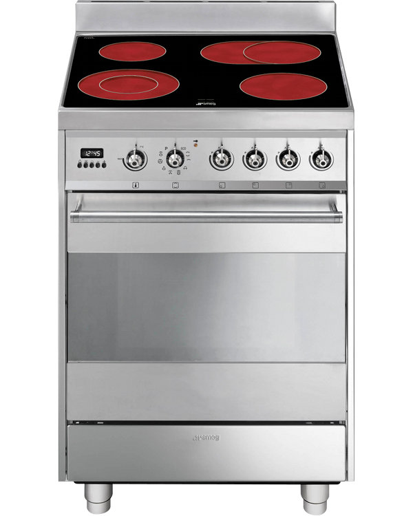 Smeg Symphony SY6CPX8 Ceramic Electric Cooker with Single Oven