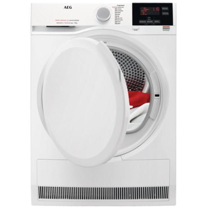 AEG T7DBG840N 7000 Series Condenser Dryer