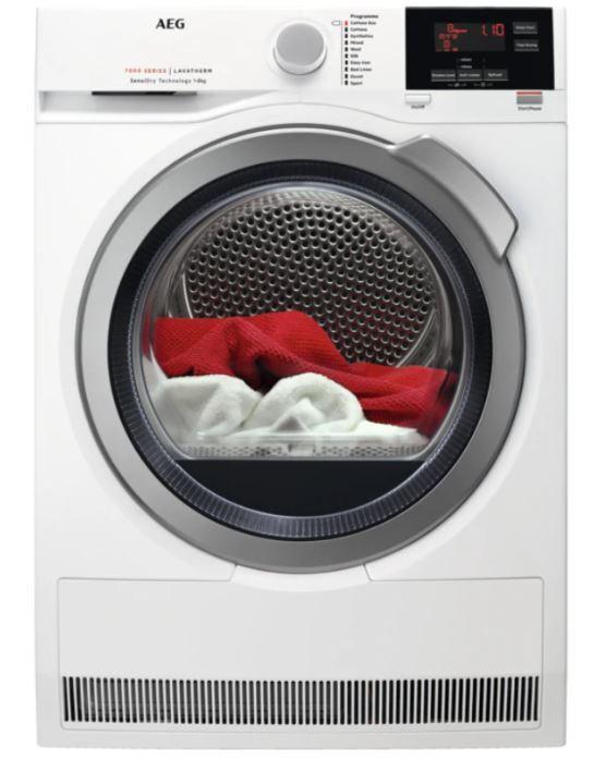 AEG T7DBG842R Condenser Dryer with Heat Pump Technology