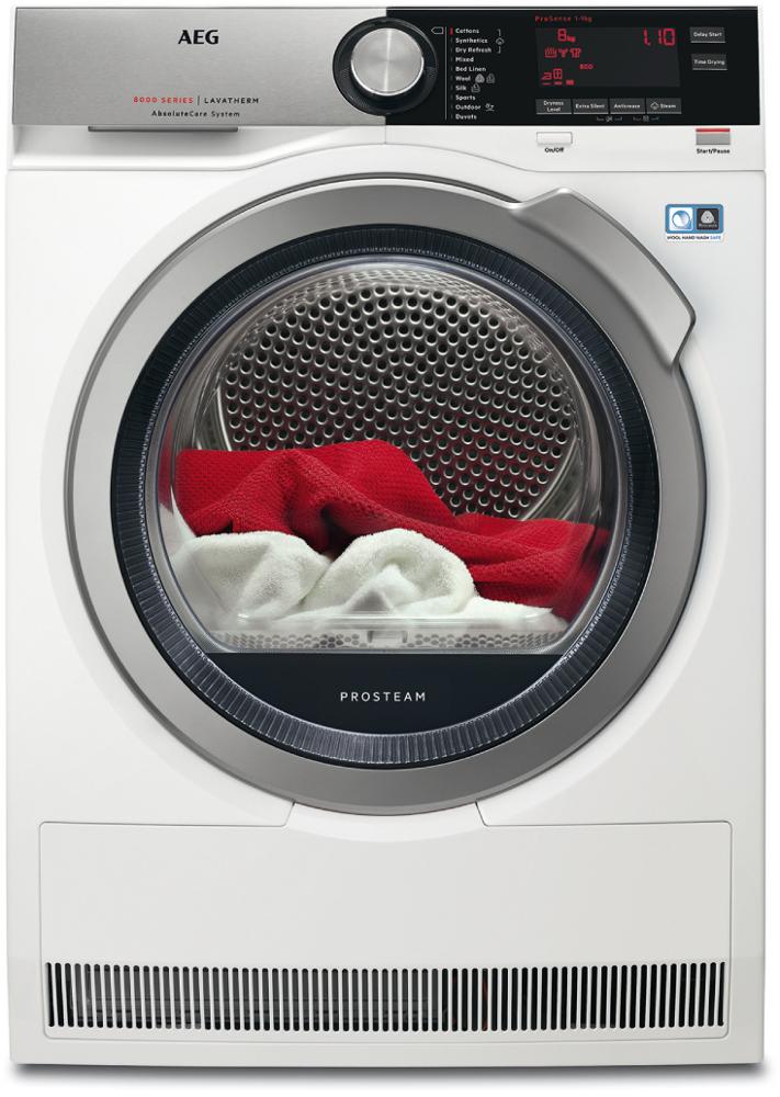 AEG T8DEC946S Condenser Dryer with Heat Pump Technology
