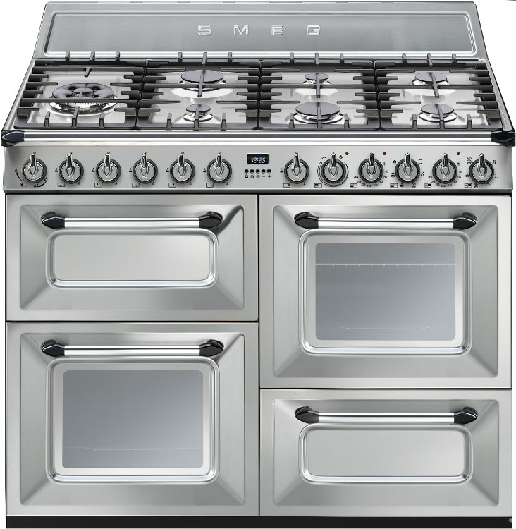 Buy Smeg Victoria TR4110X 110cm Dual Fuel Range Cooker (TR4110X) - Stainless Steel  Marks ...