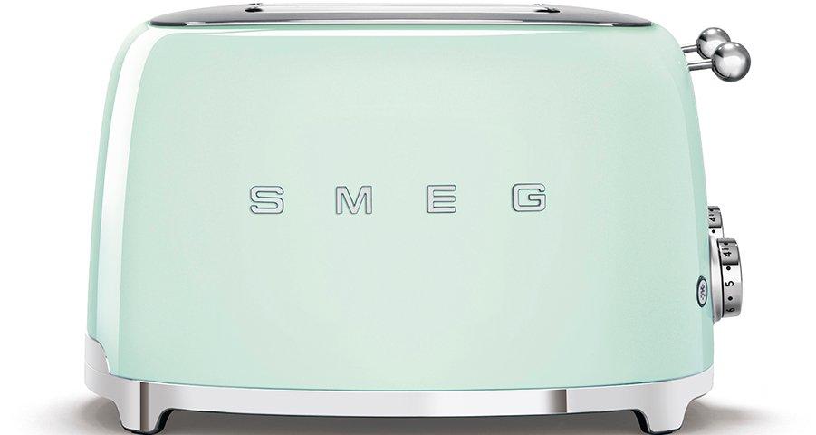 Smeg TSF03PGUK Retro 4 Slice Toaster