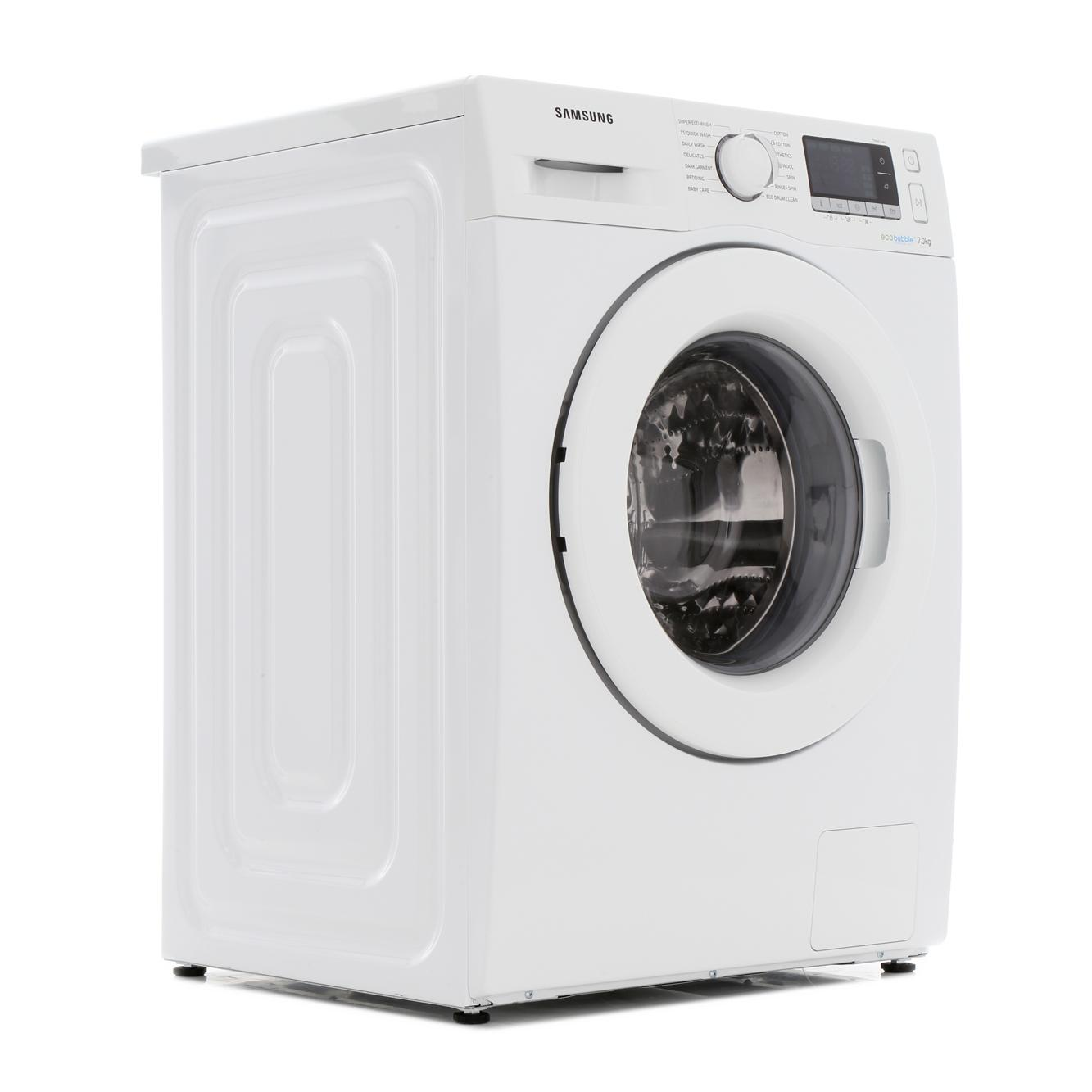 Samsung 7kg WW70J5556MW Washing Machine With Ecobubble Technology