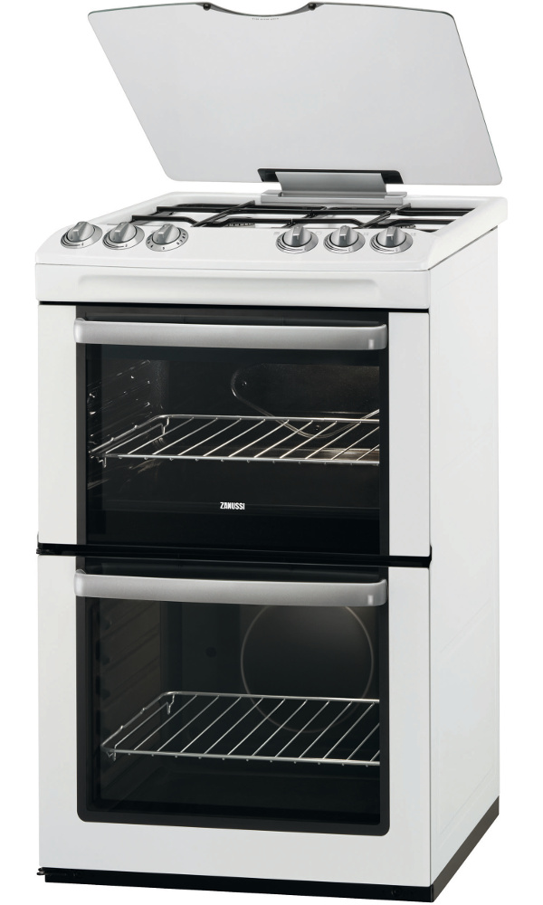 Zanussi ZCG55WGW Gas Cooker with Double Oven