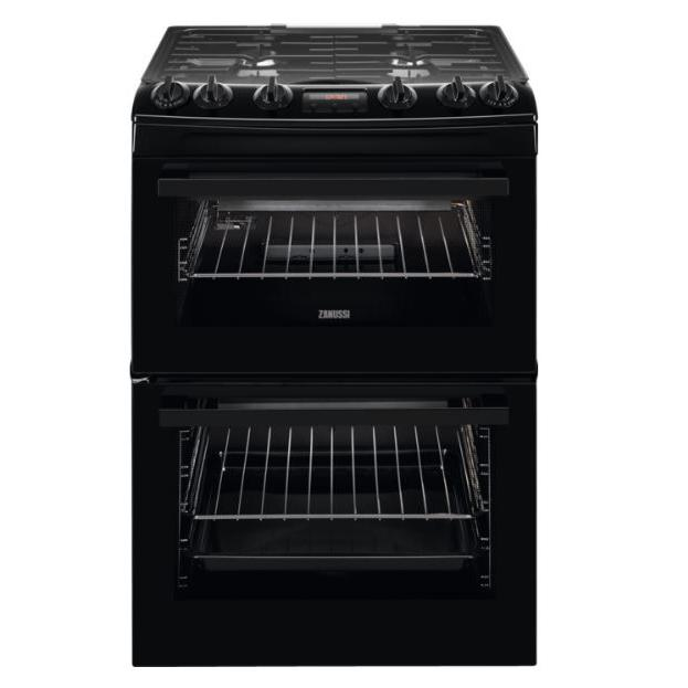 Zanussi ZCG63250BA Gas Cooker with Double Oven