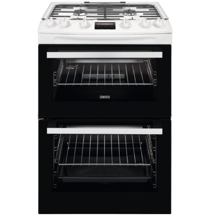 Zanussi ZCG63250WA Gas Cooker with Double Oven