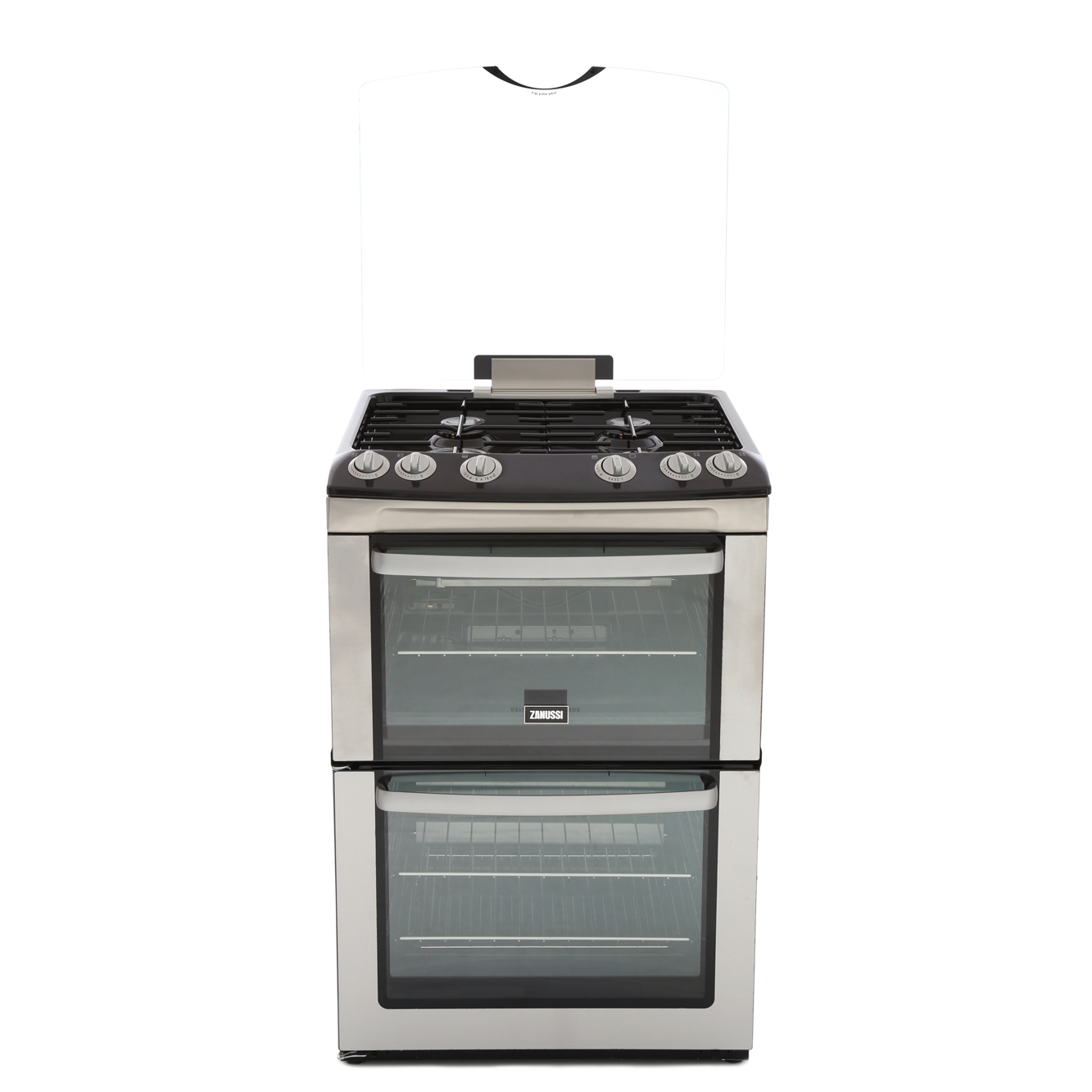 Zanussi ZCG669GX Gas Cooker with Double Oven