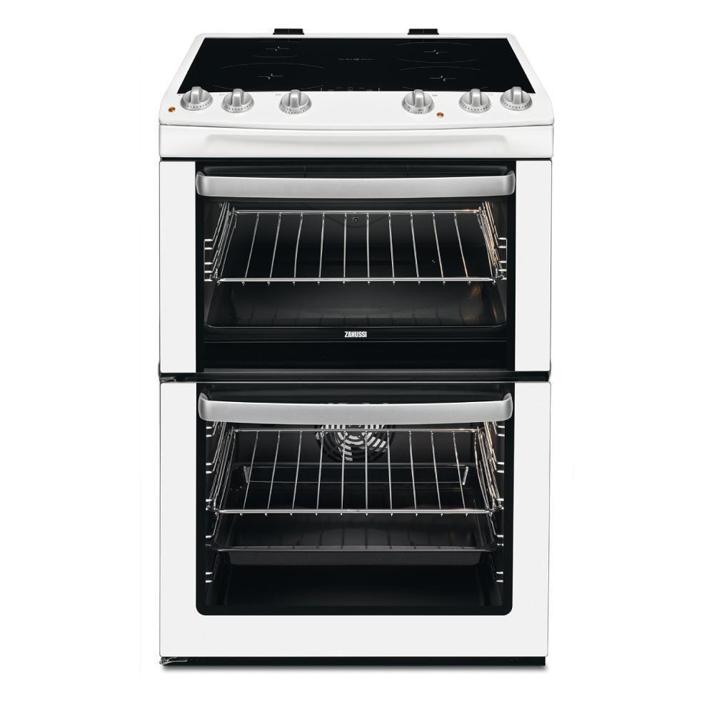 Zanussi ZCI660EWC Induction Electric Cooker with Double Oven