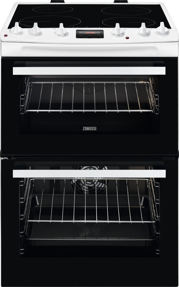 Zanussi ZCI66250WA Induction Electric Cooker with Double Oven