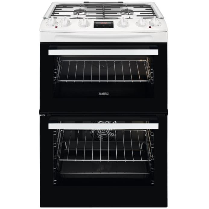 Zanussi ZCK66350WA Dual Fuel Cooker with Double Oven