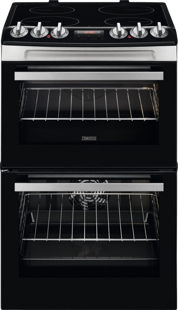Zanussi ZCV46250XA Ceramic Electric Cooker with Double Oven