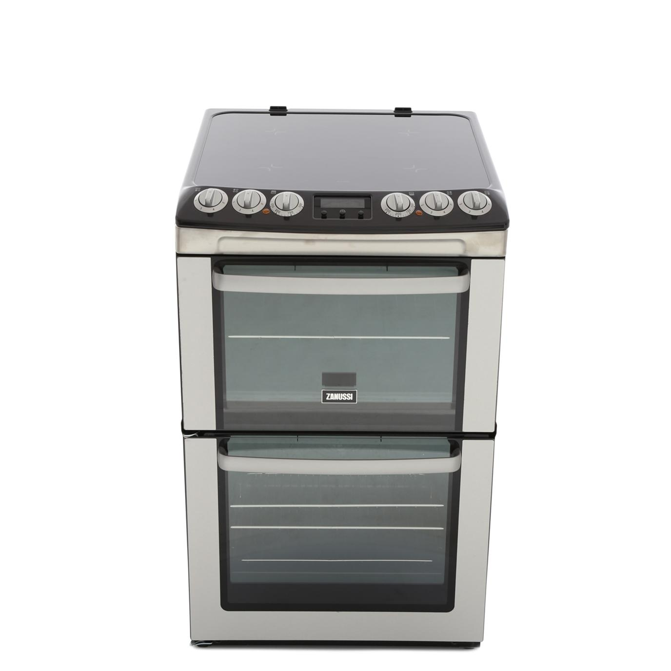Zanussi ZCV551MXC Ceramic Electric Cooker with Double Oven