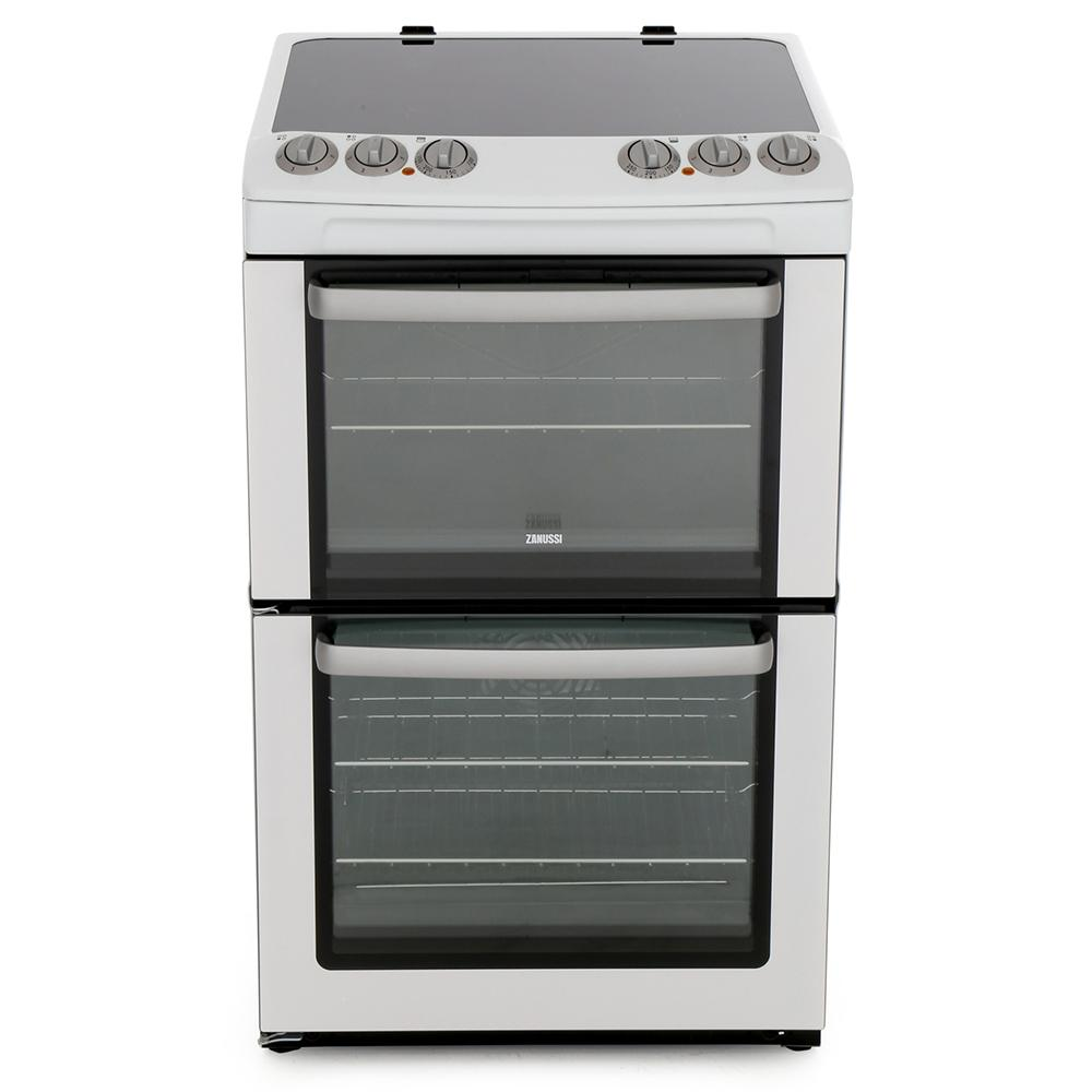 Zanussi ZCV554MW Ceramic Electric Cooker with Double Oven