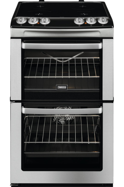 Zanussi ZCV554MX Ceramic Electric Cooker with Double Oven