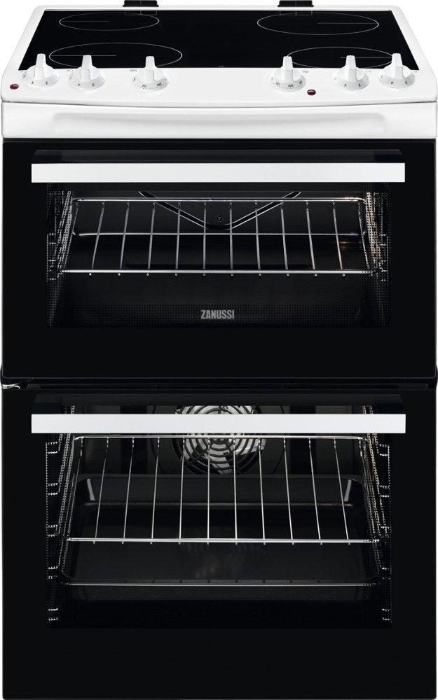Zanussi ZCV66050WA Ceramic Electric Cooker with Double Oven