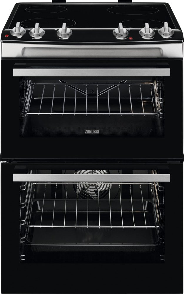Zanussi ZCV66050XA Ceramic Electric Cooker with Double Oven