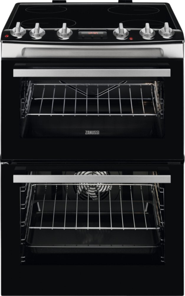 Zanussi ZCV66078XA Ceramic Electric Cooker with Double Oven