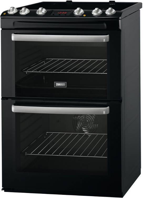 Zanussi ZCV667MNC Ceramic Electric Cooker with Double Oven
