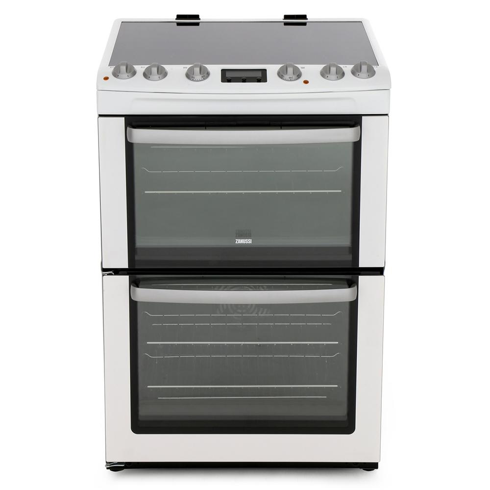 Zanussi ZCV667MWC Ceramic Electric Cooker with Double Oven
