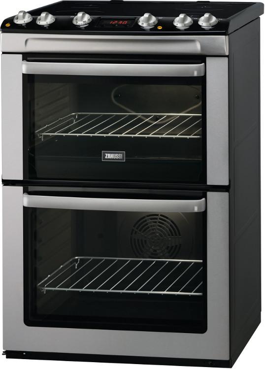 Zanussi ZCV667MXC Ceramic Electric Cooker with Double Oven