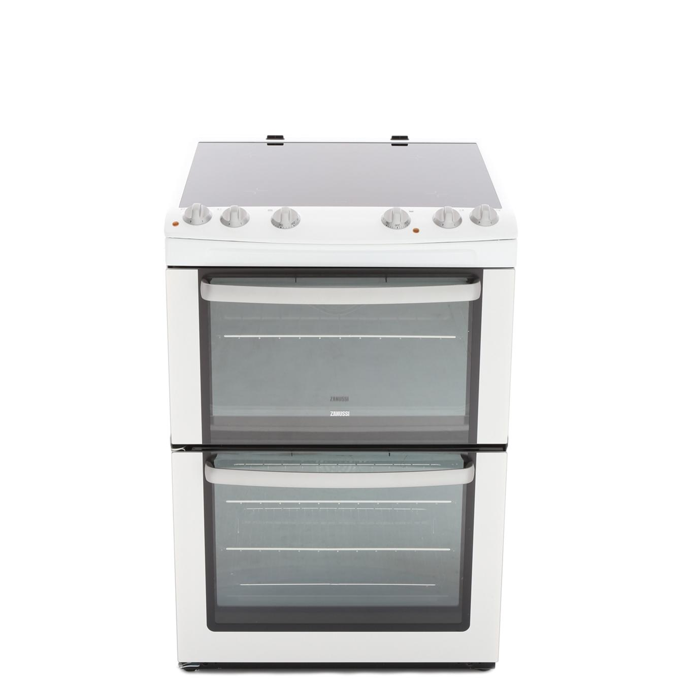 Zanussi ZCV668MW Ceramic Electric Cooker with Double Oven