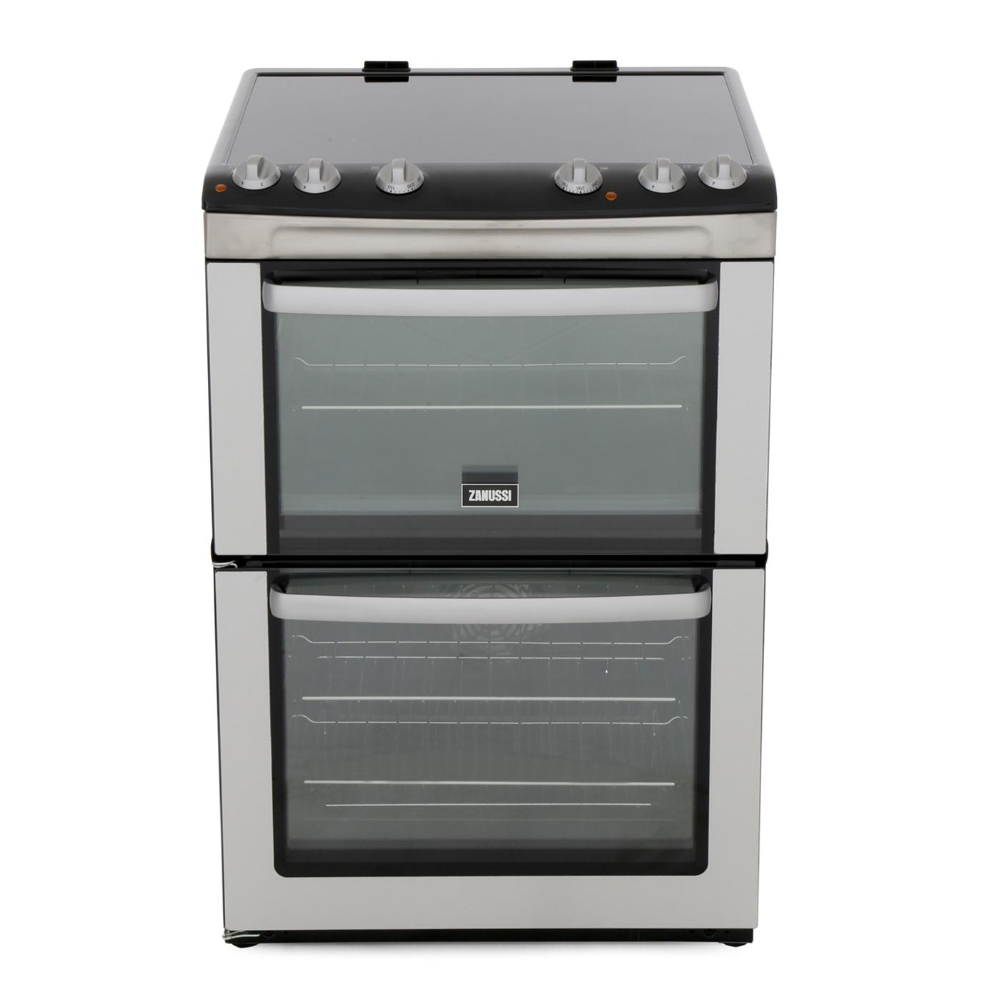 Zanussi ZCV668MX Ceramic Electric Cooker with Double Oven