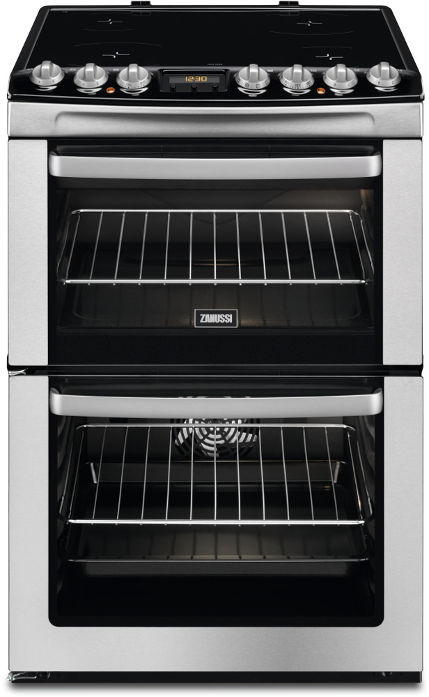 Zanussi ZCV66AEXC Electric Cooker with Double Oven