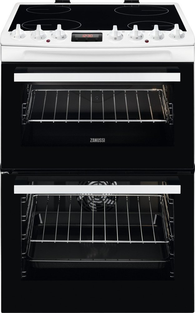 Zanussi ZCV69350WA Ceramic Electric Cooker with Double Oven