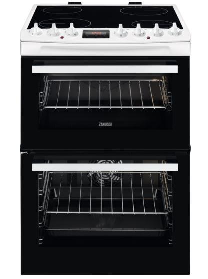 Zanussi ZCV69360WA Ceramic Electric Cooker with Double Oven